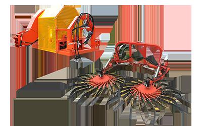 GF costruzione macchine agricole andanatore convogliatore doppio