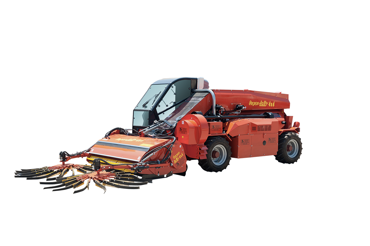 GF costruzione macchine agricole raccoglitrici semoventi super jolly 4x4 con corvello